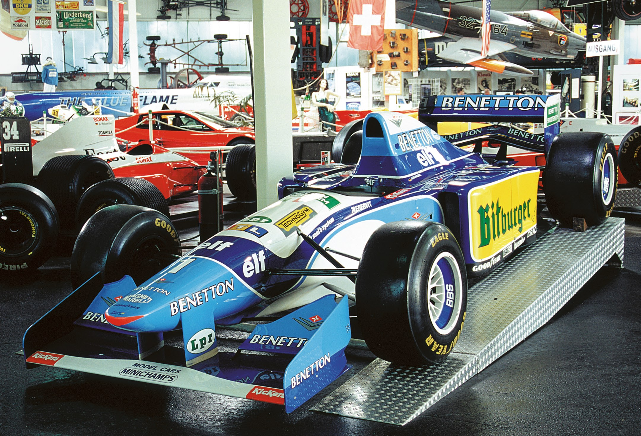 benetton renault b195 technik museum sinsheim. Black Bedroom Furniture Sets. Home Design Ideas